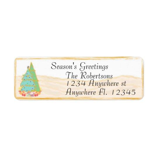 Season's Greetings Return Address Label