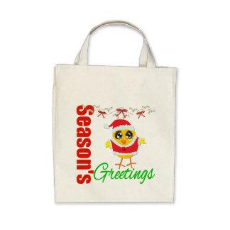Seasons Greetings Santa Chick Bags