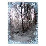 SEASON'S GREETINGS SNOW SCENE by SHARON SHARPE Card