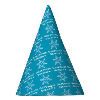 Season's Greetings Snowflake Party Hat