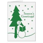 Season's Greetings Snowman Card