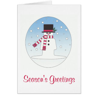 season's greetings snowman card