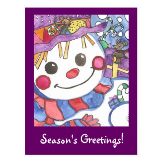Season's greetings Snowy and friends Postcard