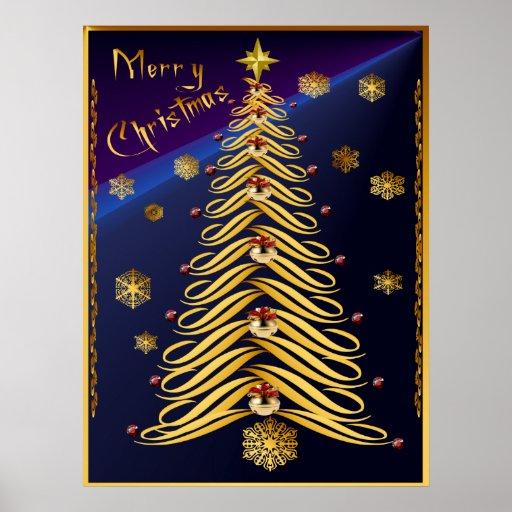 Seasons Greetings Soft Tree Poster