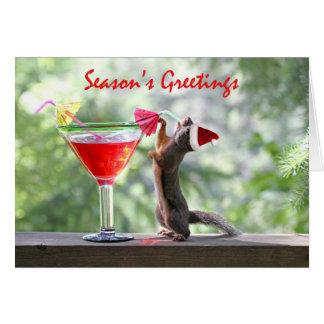Season's Greetings Squirrel Greeting Card