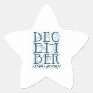 Seasons Greetings Star Sticker