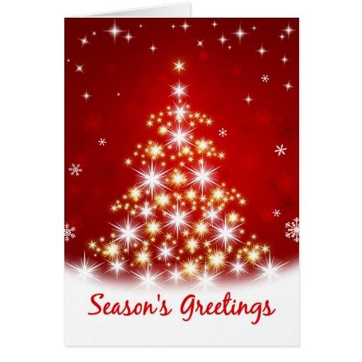 Season's Greetings -  Star Tree Christmas Card