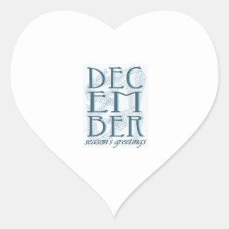 Seasons Greetings Heart Sticker