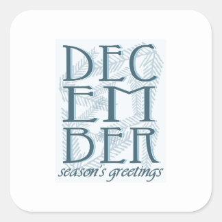 Seasons Greetings Square Sticker