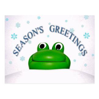 Season's Greetings! v.4  (cute frog design) ~ Postcards
