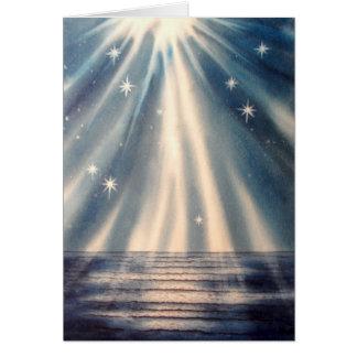 Season's Greetings Waves of Illumination Card