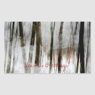 Season's Greetings Winter Abstract Sticker