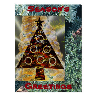Season's Greetings winter holidays postcard/invite Postcard