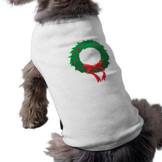Seasons Greetings: Wreath Apparel Sleeveless Dog Shirt
