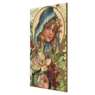 Seasons GreetingsGirl in a Hood Gallery Wrapped Canvas