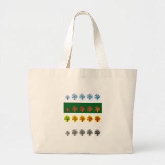 seasons jumbo tote bag