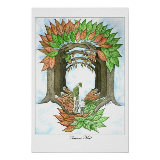 Seasons Meet Poster Print
