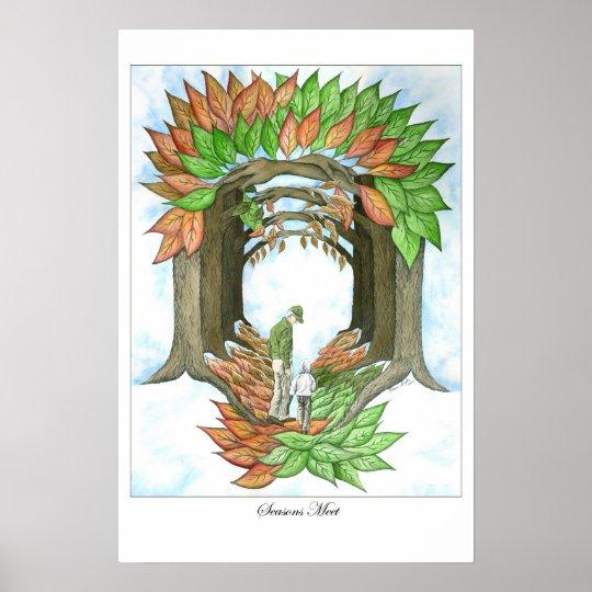 Seasons Meet Poster Print