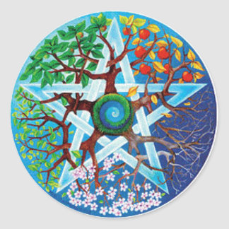 Seasons Pentacle Sticker