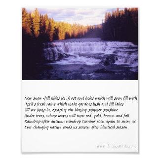 Seasons - Photo, poem Photo Print