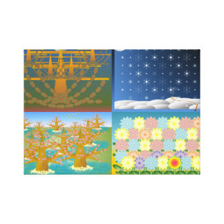 Seasons Stretched Canvas Print