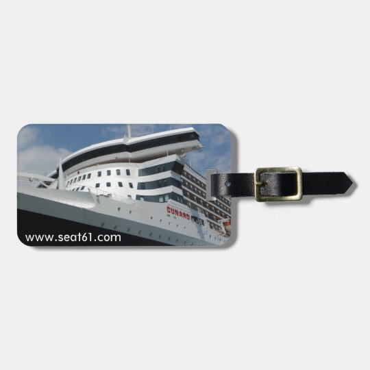 Seat61 Queen Mary 2 luggage tag
