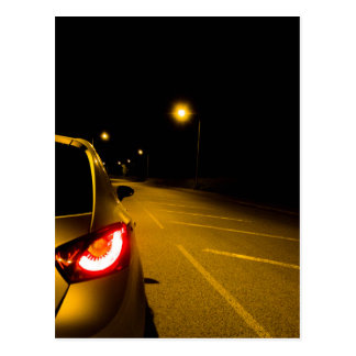Seat Ibiza on the lonely road Postcard
