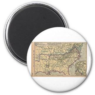 Seat of Civil War, 1861- 1865 6 Cm Round Magnet