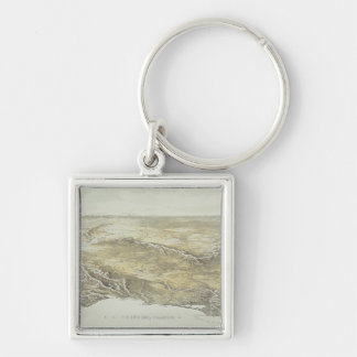 Seat of War in Europe Silver-Colored Square Key Ring