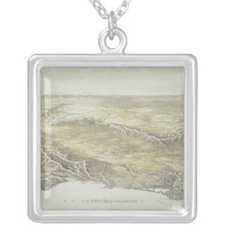 Seat of War in Europe Silver Plated Necklace