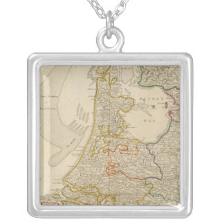 Seat of war United Provinces Silver Plated Necklace