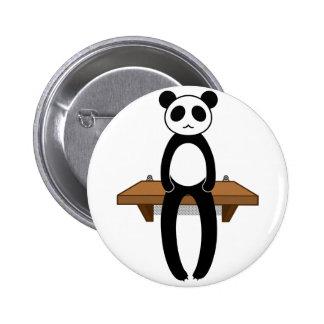< Seat panda >Sitting panda 6 Cm Round Badge