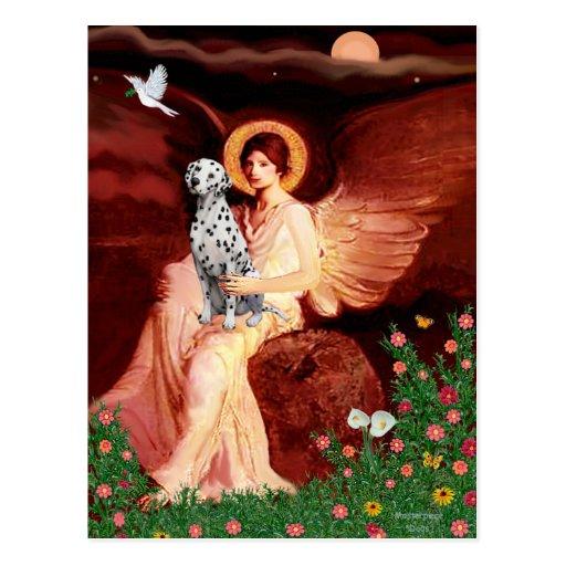 Seated Angel - Dalmatian Postcard