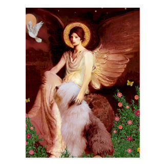 Seated Angel - Old English #1 Postcard
