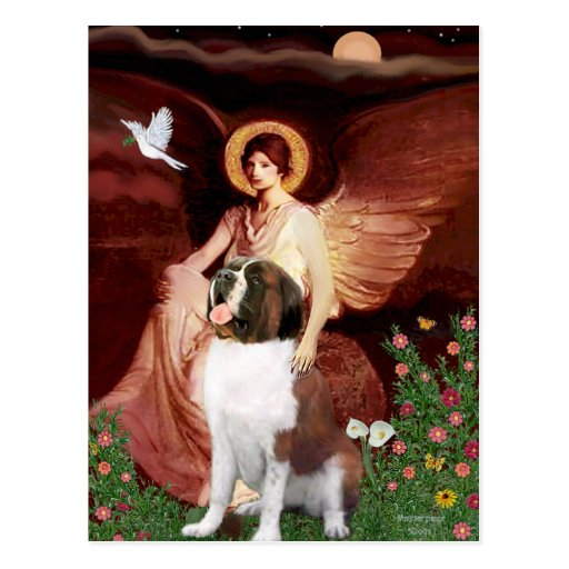 Seated Angel - Saint Bernard Postcard