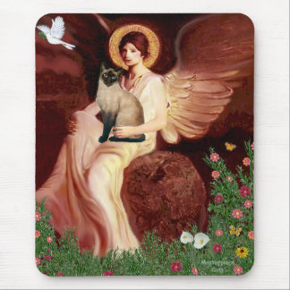 Seated Angel - Seal Point Siamese cat Mouse Mat