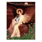 Seated Angel - Smooth Fox Terrier Postcard