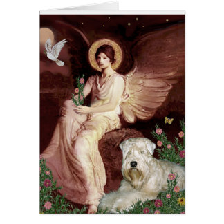 Seated Angel - Wheaten Terrier 1 Card