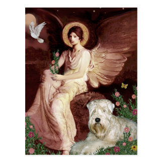 Seated Angel - Wheaten Terrier 1 Post Cards