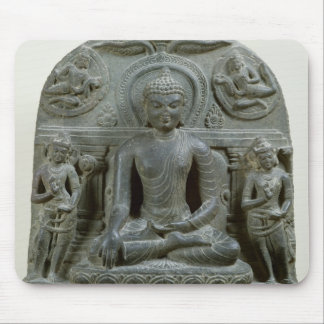 Seated Buddha in meditation Mouse Mat