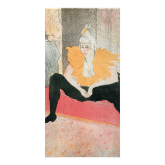 Seated Clowness by Henri de Toulouse-Lautrec Photo Card Template