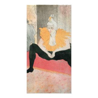 Seated Clowness by Henri de Toulouse-Lautrec Photo Card Template