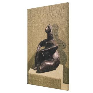 Seated female figure, 3500-2500 BC Canvas Print