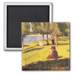 Seated figure by Georges Seurat Fridge Magnets