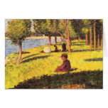 Seated figure by Georges Seurat Greeting Cards