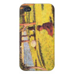 Seated figure by Georges Seurat iPhone 4/4S Covers