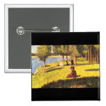 Seated figure by Georges Seurat Pins