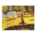 Seated figure by Georges Seurat Postcard