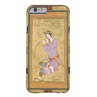 Seated girl curling her hair into ringlets, from t barely there iPhone 6 case