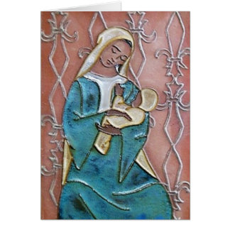 Seated Madonna of the Fleur de Lys Card